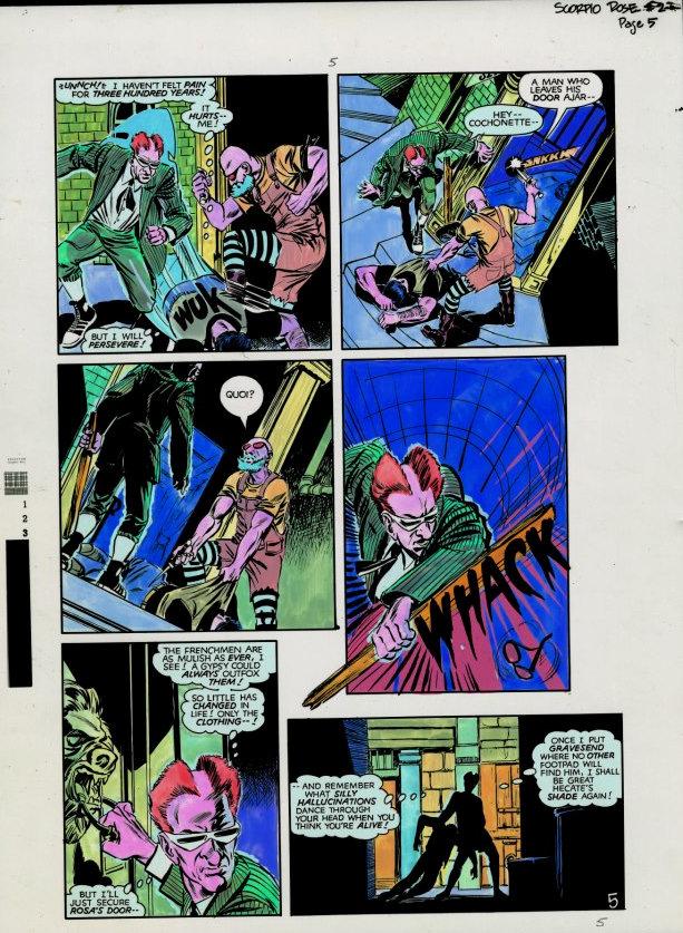 Scorpio Rose (1983) #2 pg.5, colored by Joe D'Esposito.