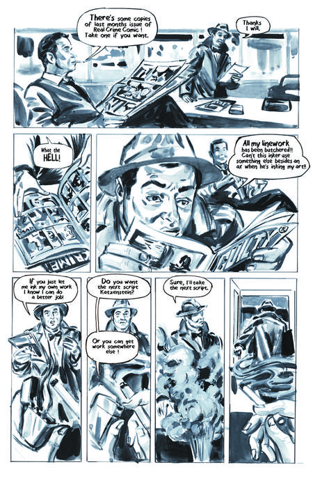 Krigstein: A Graphic Novel  - Sample Page 4, art & story by Joe D'Esposito.