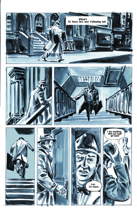 Krigstein: A Graphic Novel  - Sample Page 5, art & story by Joe D'Esposito.