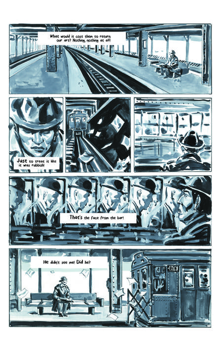 Krigstein: A Graphic Novel  - Sample Page 7, art & story by Joe D'Esposito.