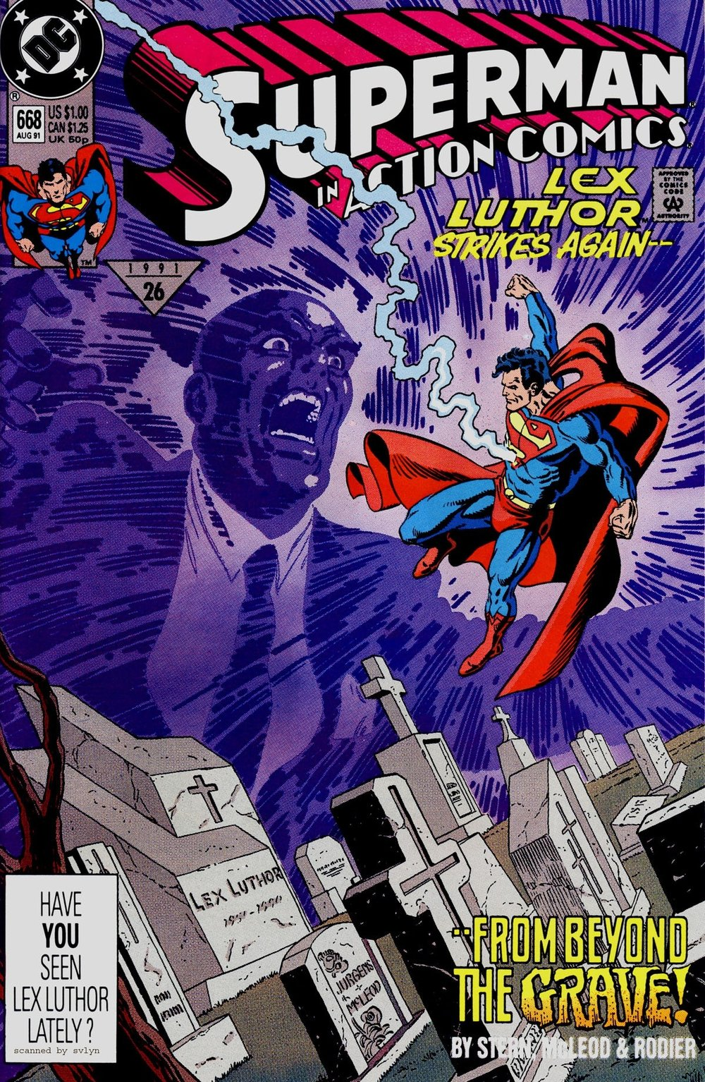 Action Comics (1938) #668, cover penciled by Dan Jurgens & inked by Bob McLeod.