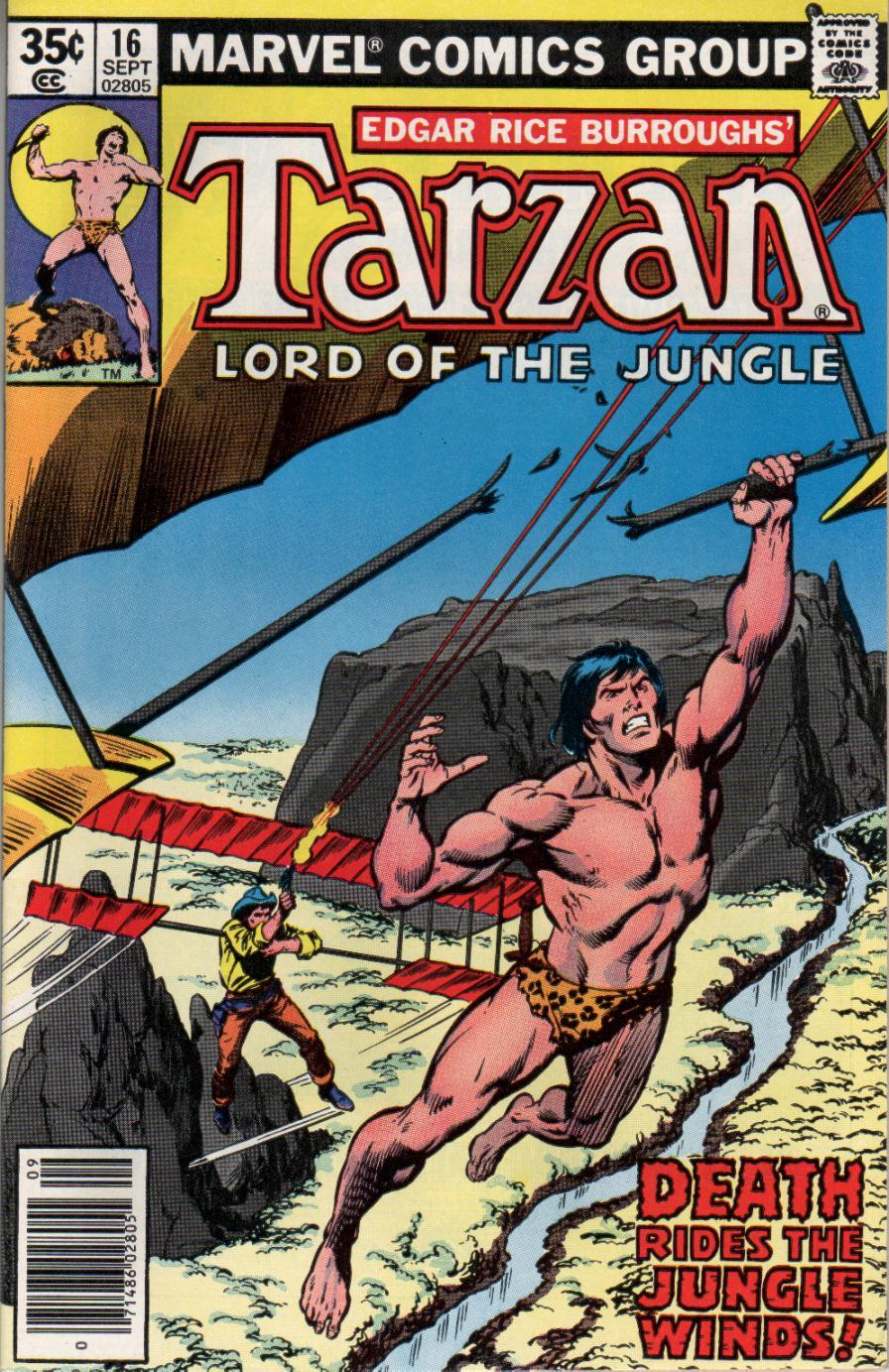 Tarzan (1977) #16, cover penciled by John Buscema & inked by Bob McLeod.