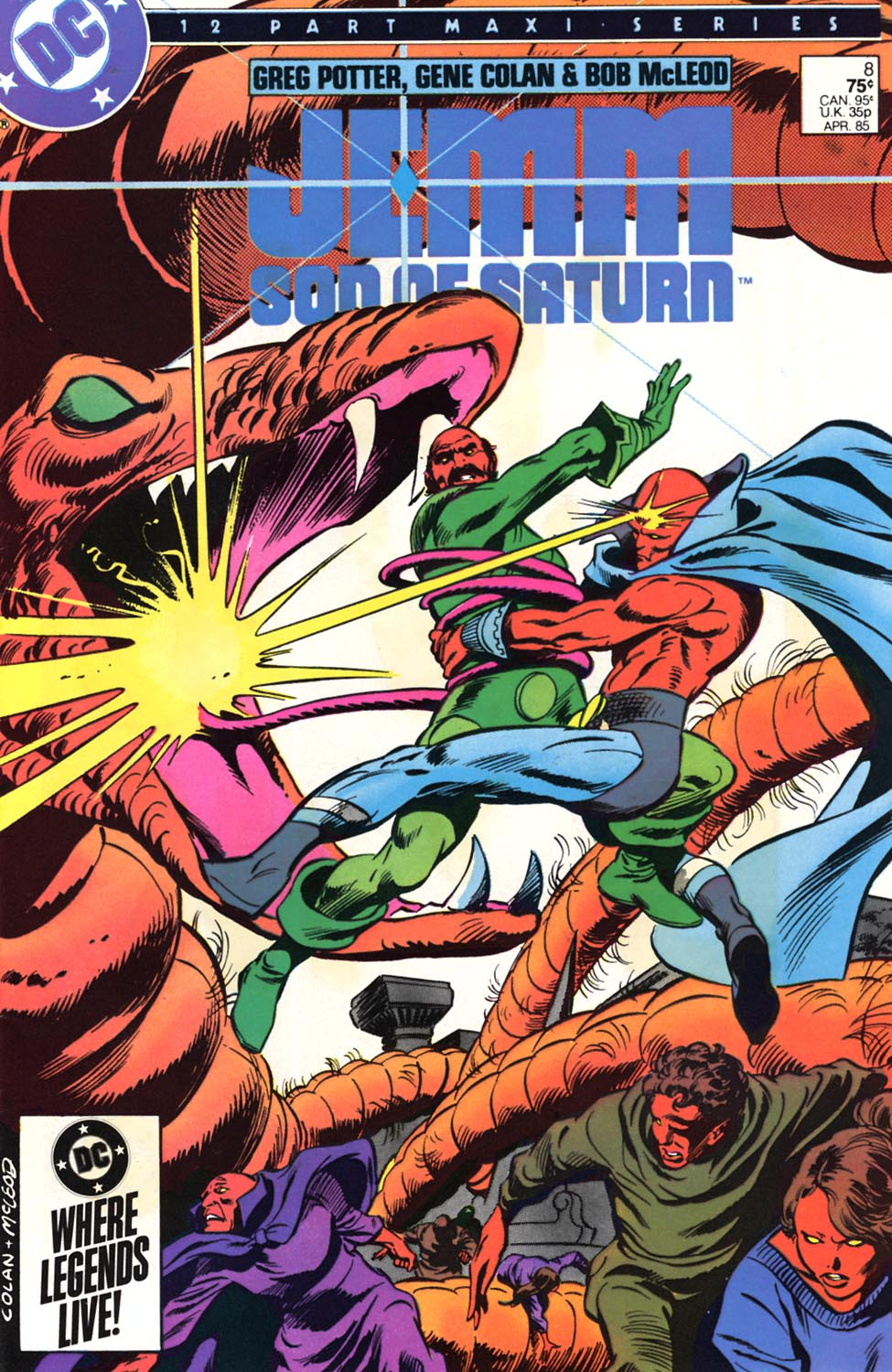 Jemm, Son of Saturn (1984) #8, cover penciled by Gene Colan & inked by Bob McLeod.
