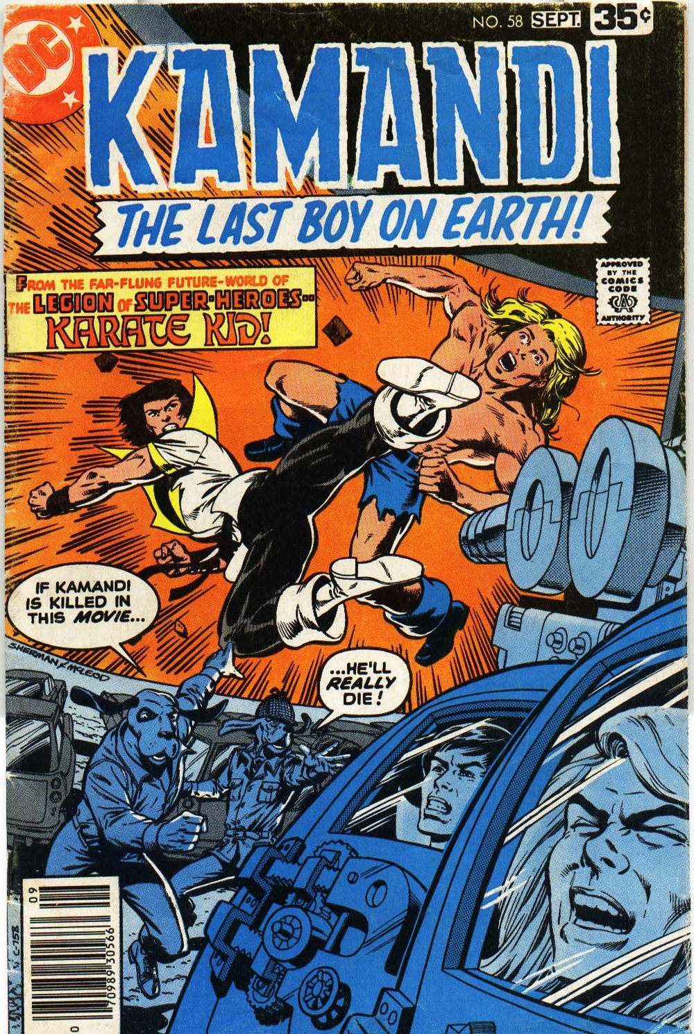 Kamandi (1975) #58, cover penciled by Jim Sherman & inked by Bob McLeod.