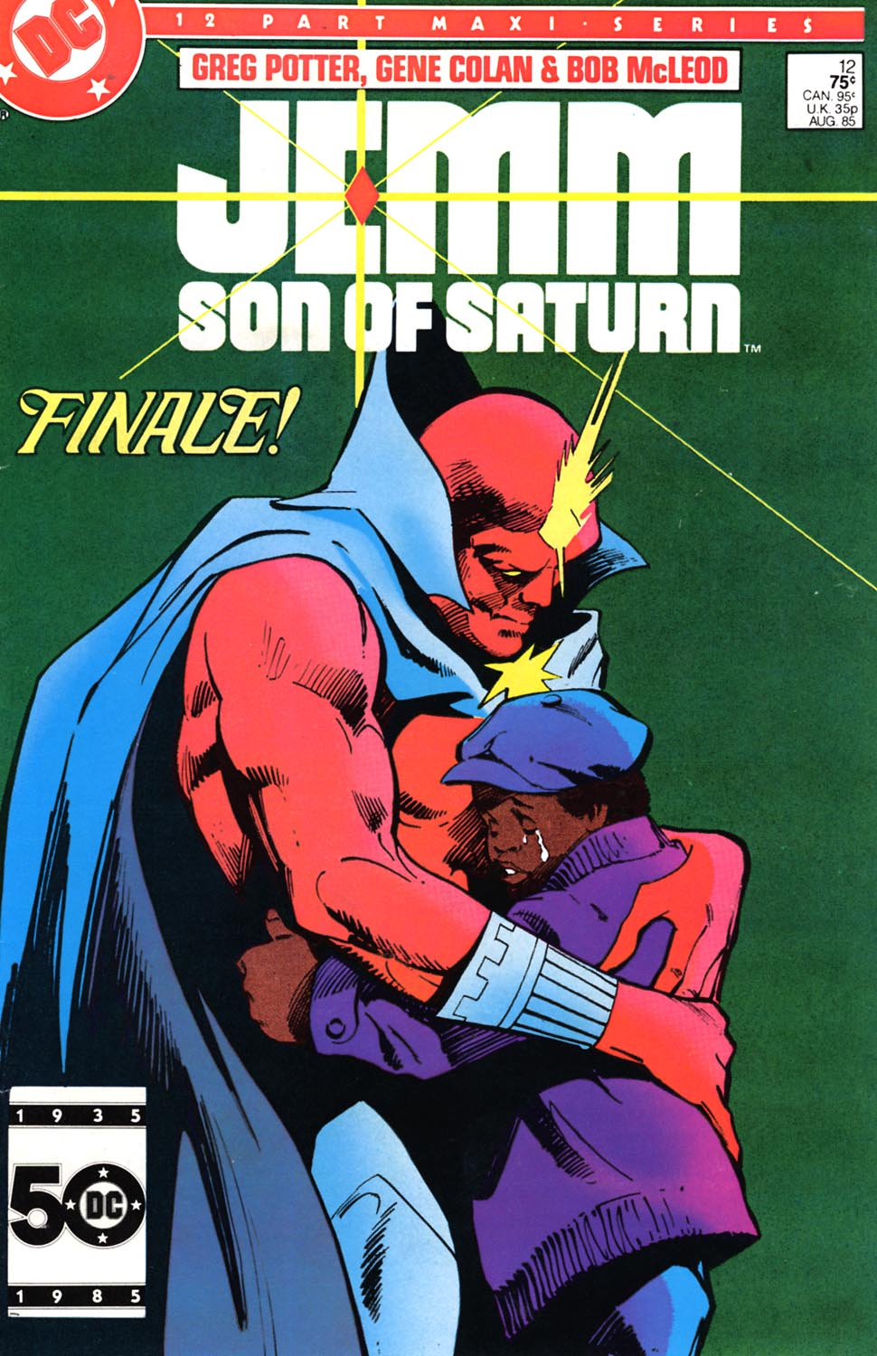 Jemm, Son of Saturn (1984) #12, cover penciled by Gene Colan & inked by Bob McLeod.