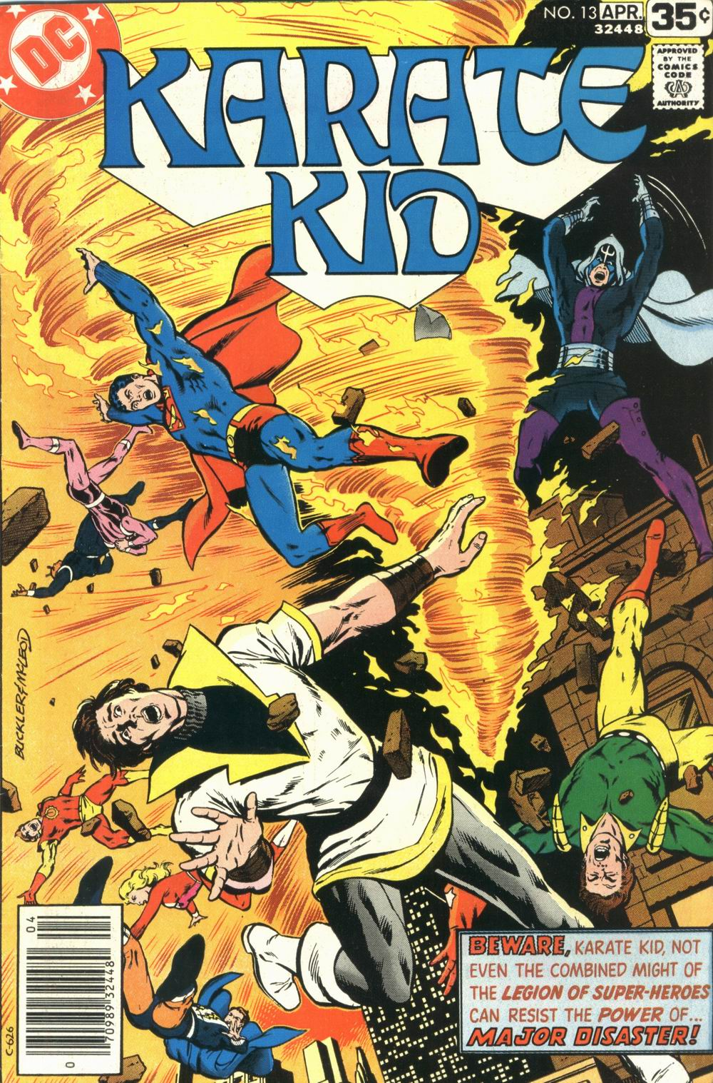 Karate Kid (1976) #13, cover penciled by Rich Buckler & inked by Bob McLeod.
