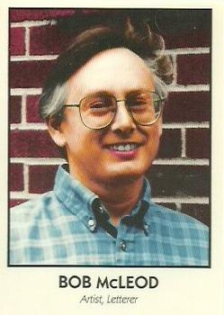 1992 Eclipse Famous Comic Book Creators trading card #10 Bob McLeod.