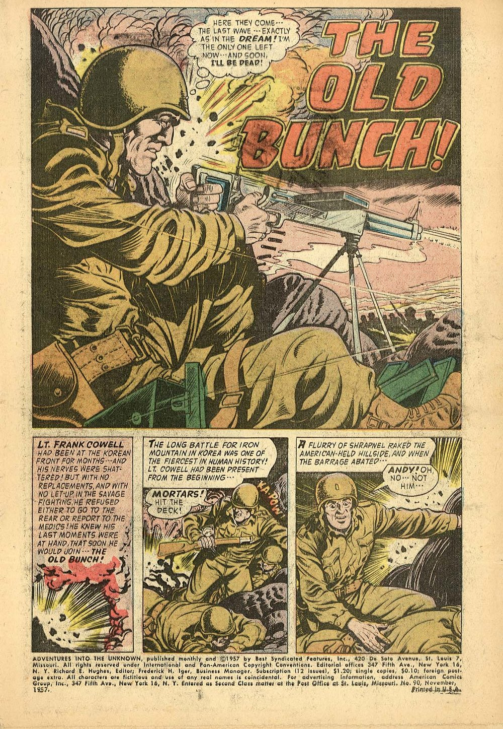 Adventures Into the Unknown (1948) #90 pg.1, art by Hy Eisman.