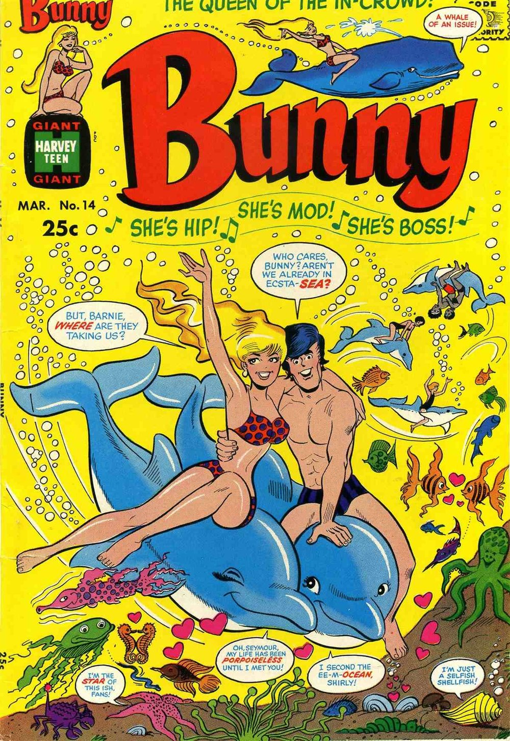 Bunny (1966) #14, cover by Hy Eisman.