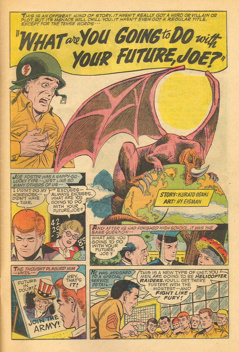 Adventures Into the Unknown (1948) #158 pg.25, art by Hy Eisman.