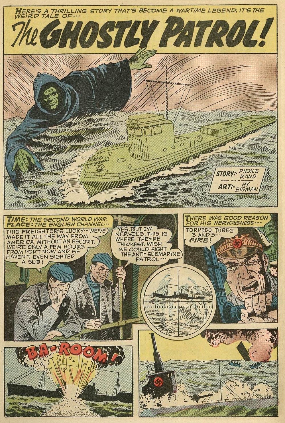 Adventures Into the Unknown (1948) #152 pg.20, art by Hy Eisman.