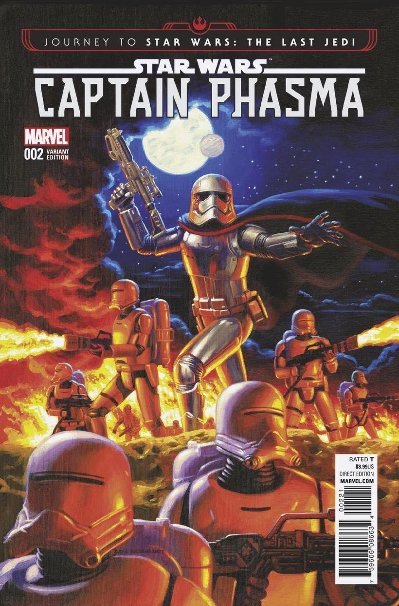Journey To Star Wars_ The Last Jedi - Captain Phasma (2017) #2 Variant, cover by Greg Hildebrandt.