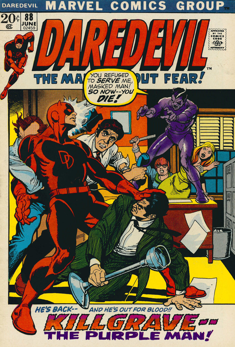 Daredevil (1964) #88, cover penciled by Gil Kane & inked by Ralph Reese.
