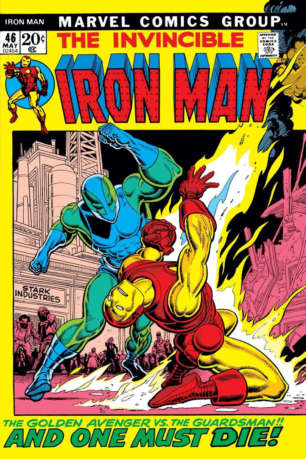 Iron Man (1968) #46, cover penciled by Gil Kane & inked by Ralph Reese.