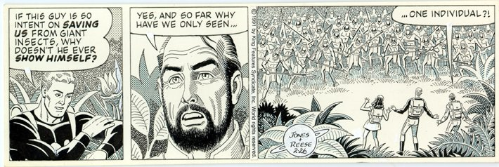 Flash Gordon newspaper strip from 2-26-1991, art by Ralph Reese.