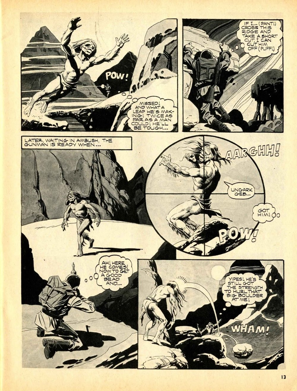 Web of Horror (1969) #3 pg13, written by Otto Binder with art from Ralph Reese.