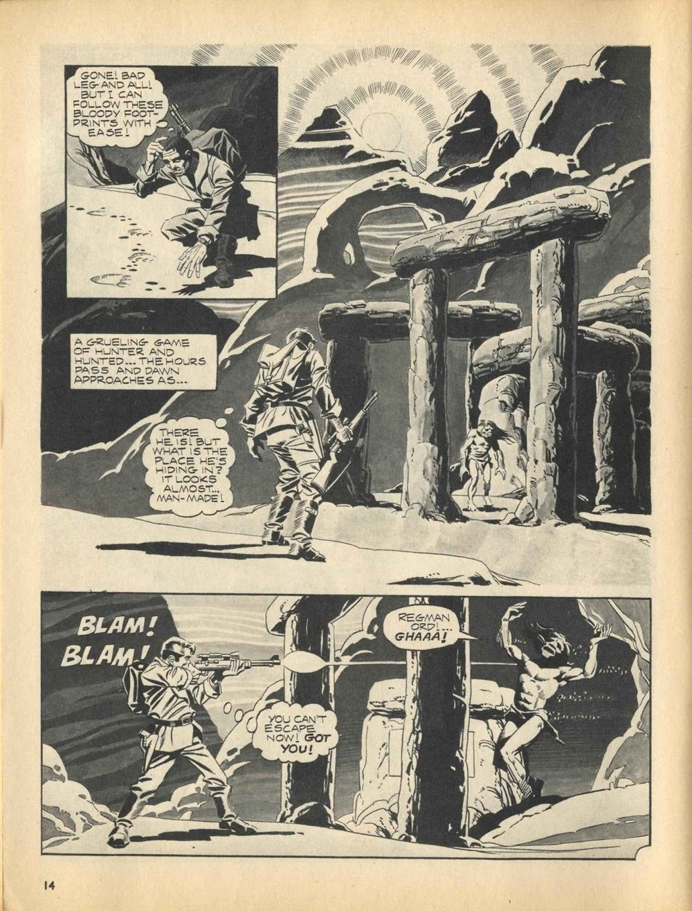 Web of Horror (1969) #3 pg14, written by Otto Binder with art from Ralph Reese.