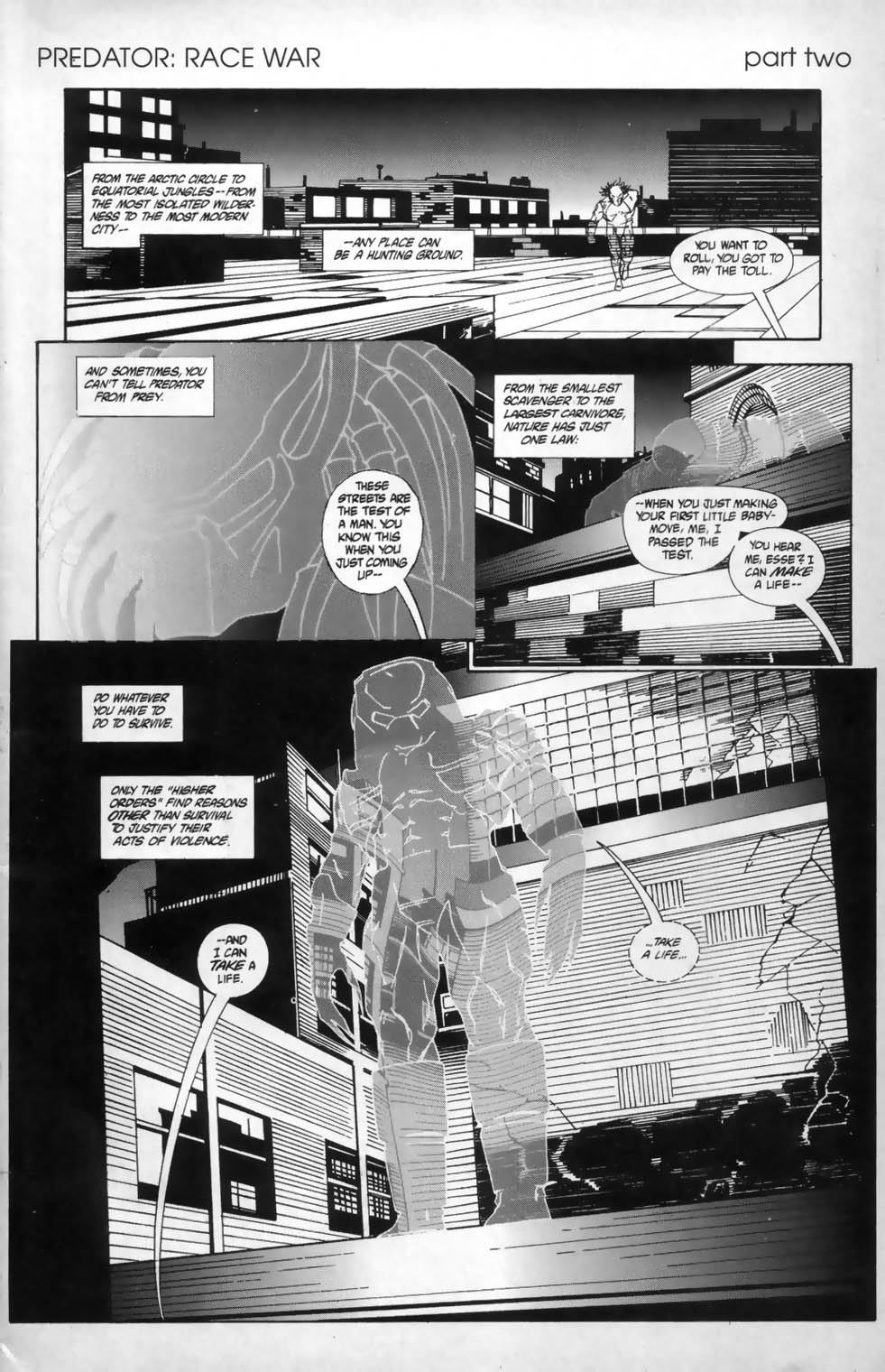 Dark Horse Presents (1986) #68 pg1, penciled by Jordan Raskin & inked by Bob Wiacek.