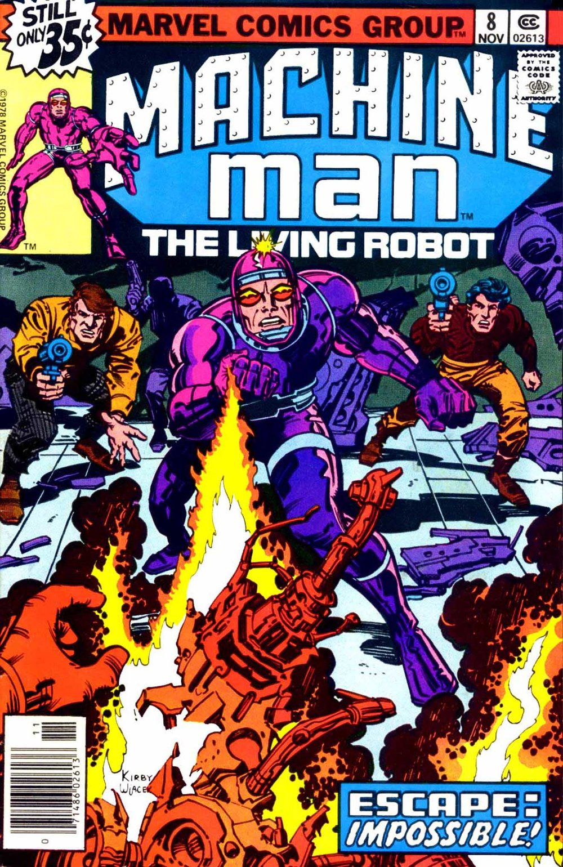 Machine Man (1978) #8, cover penciled by Jack Kirby & inked by Bob Wiacek.