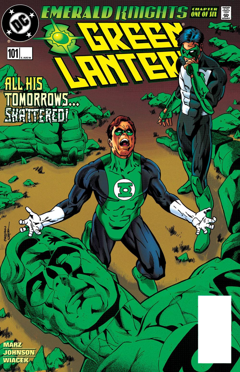 Green Lantern (1990) #101, cover penciled by Jeff Johnson & inked by Bob Wiacek.