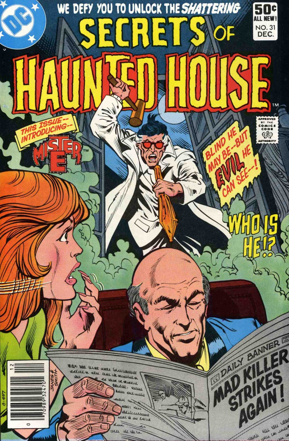 Secrets of Haunted House (1975) #31, cover penciled by Jim Janes & inked by Bob Smith.