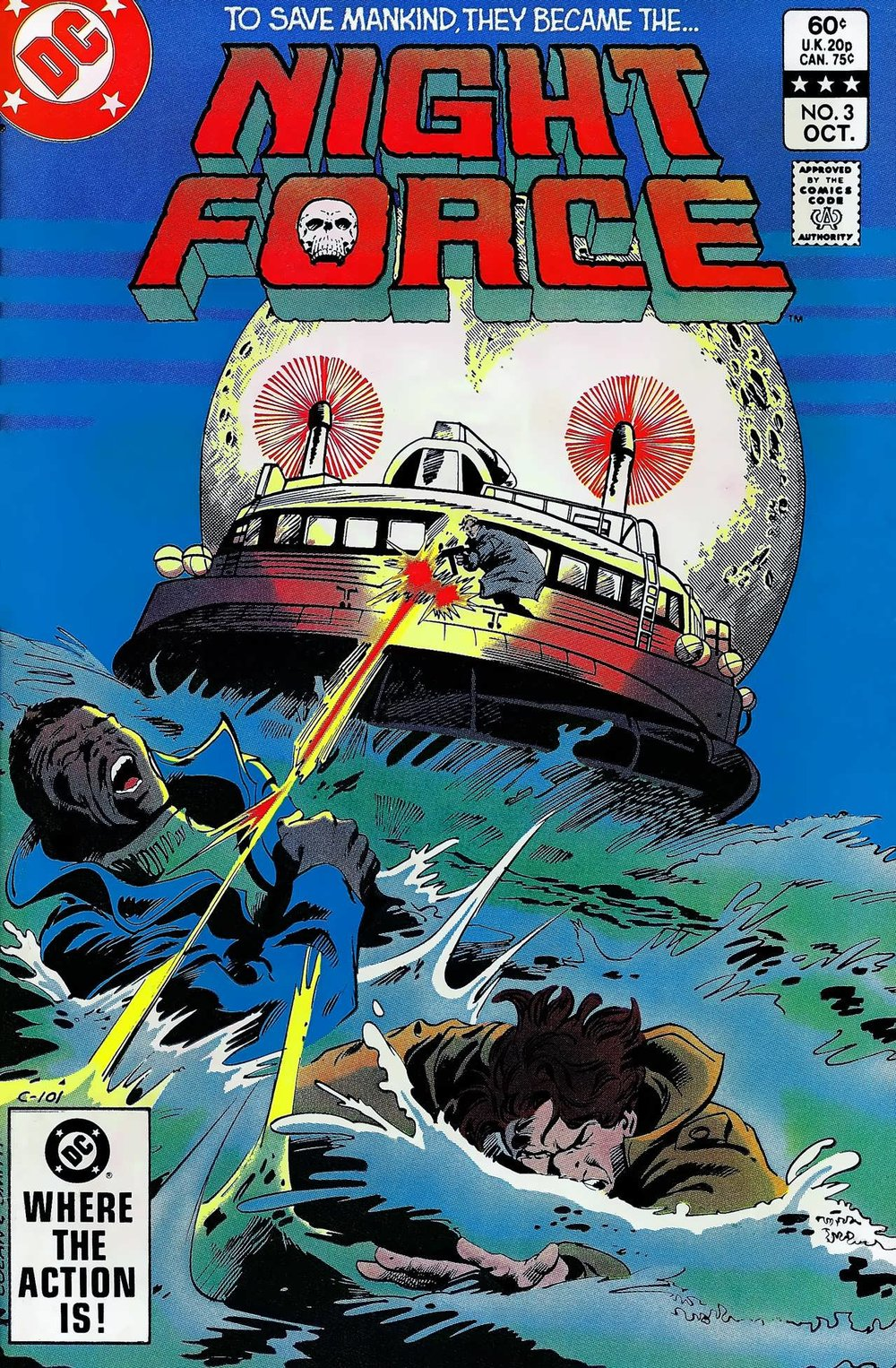 Night Force (1982) #3, cover penciled by Gene Colan & inked by Bob Smith.