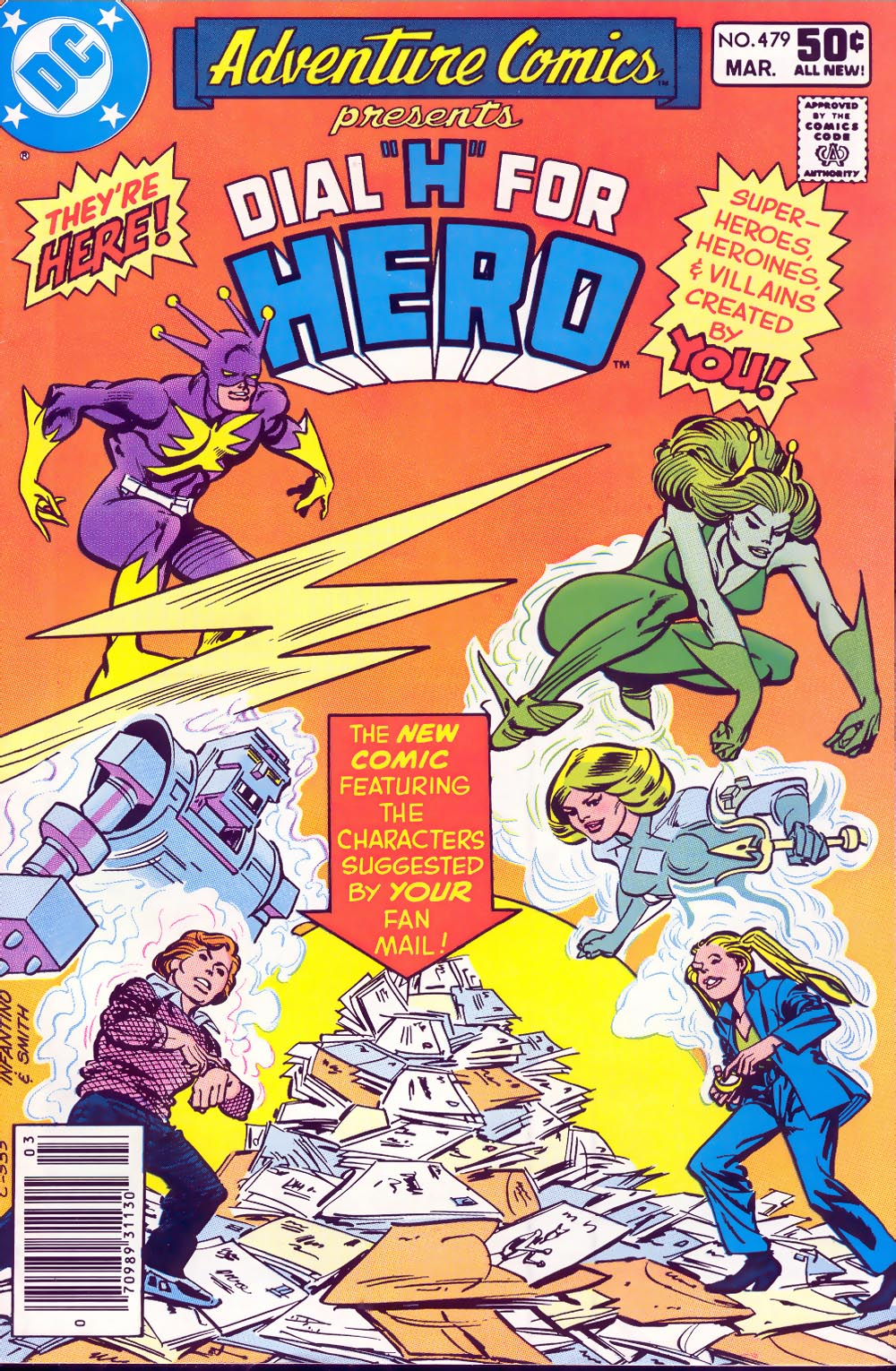Adventure Comics (1938) #479, cover penciled by Carmine Infantino & inked by Bob Smith.