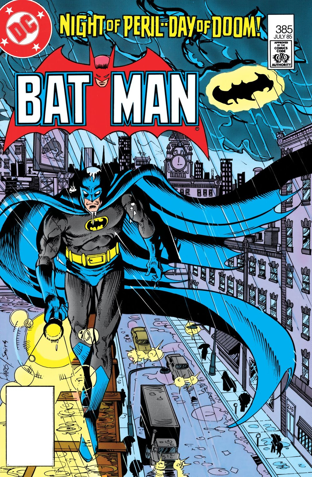 Batman (1940) #385, cover penciled by Paris Cullins & inked by Bob Smith.