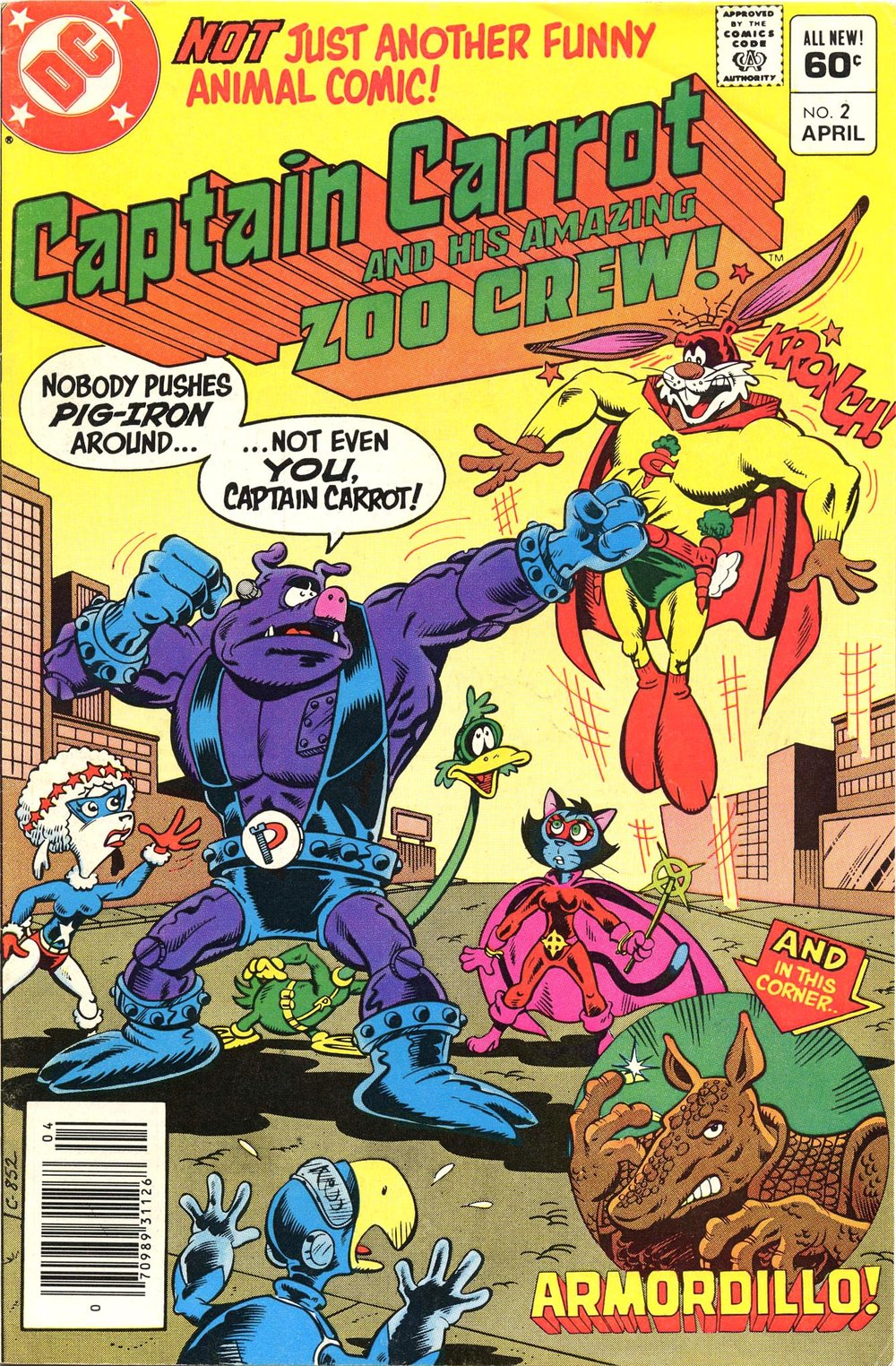 Captain Carrot and his Amazing Zoo Crew (1982) #2, cover penciled by Scott Shaw & inked by Bob Smith.