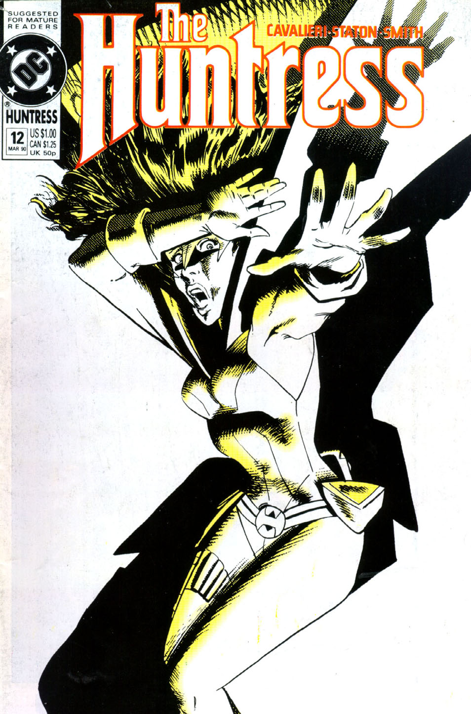 The Huntress (1989) #12, cover penciled by Joe Staton & inked by Bob Smith.