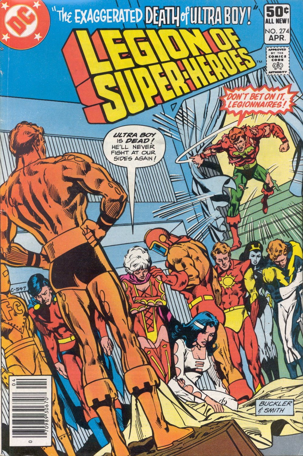 Legion of Super-Heroes (1980) #274, cover penciled by Rich Buckler & inked by Bob Smith.
