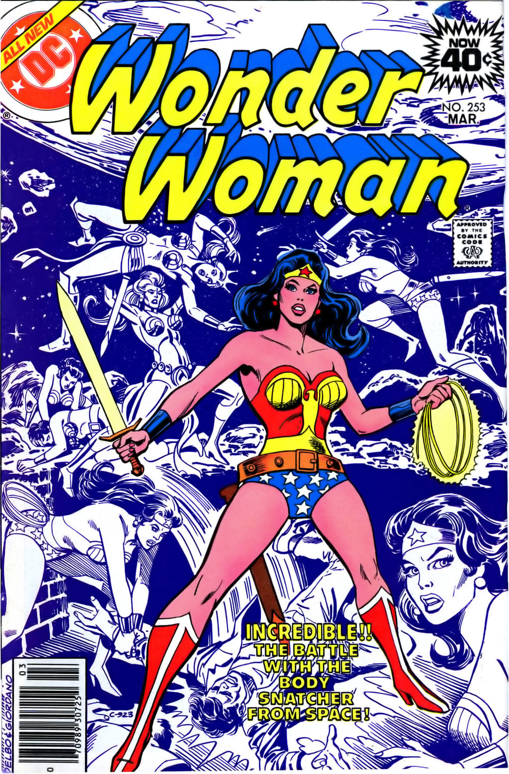 Wonder Woman (1942) #253, cover penciled by Jose Delbo & inked by Dick Giordano.