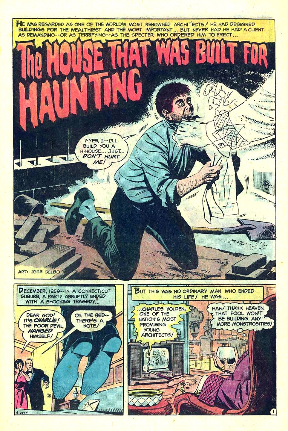Ghosts (1971) #55 pg1, art by Jose Delbo.