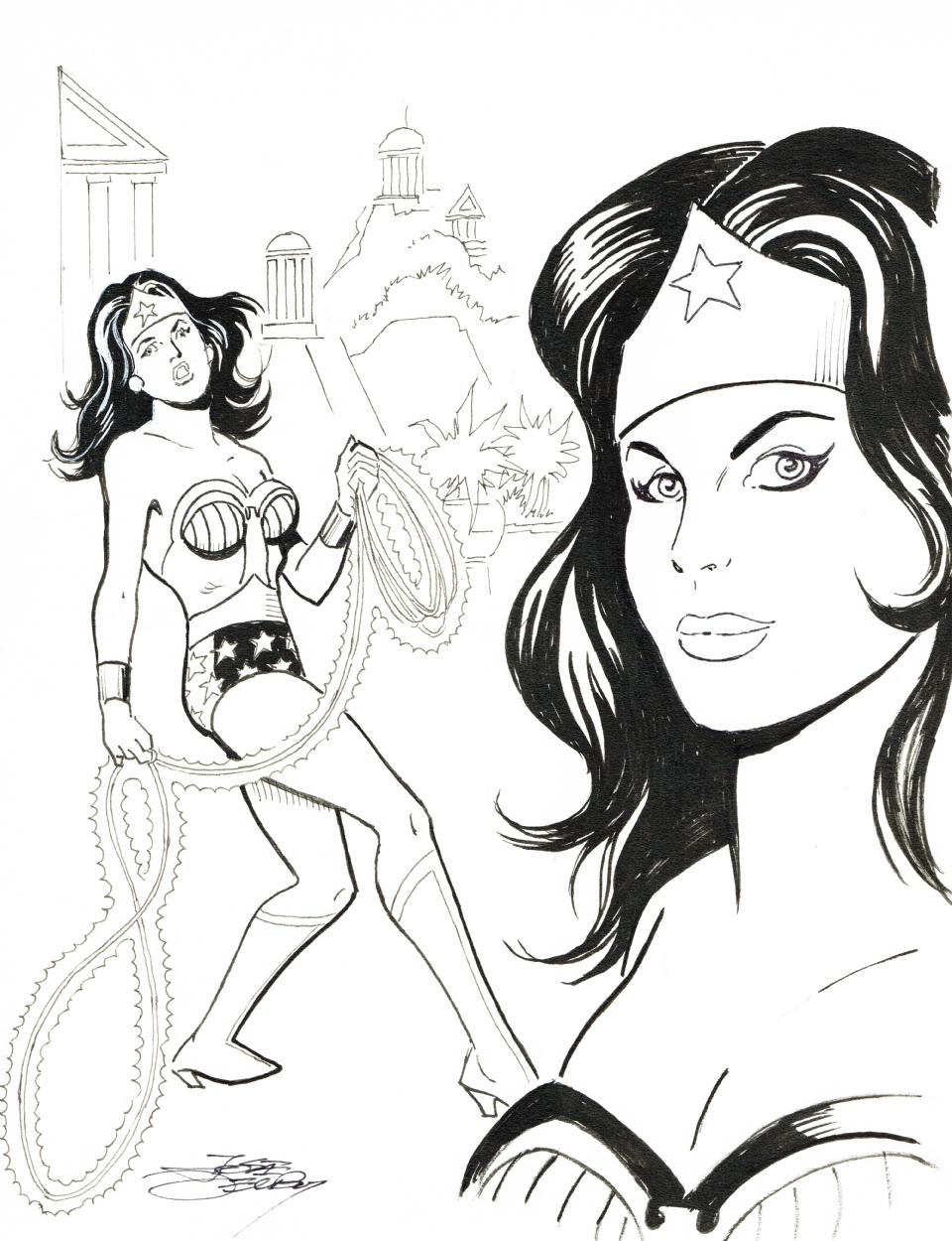 Wonder Woman commission by Jose Delbo.