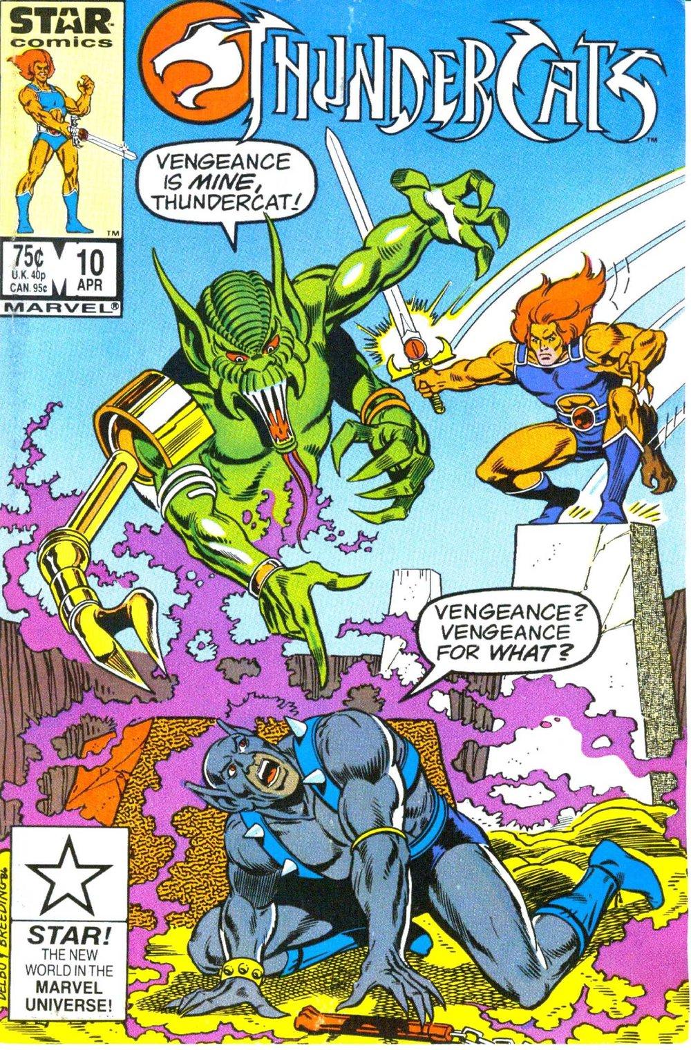 ThunderCats (1985) #10, cover penciled by Jose Delbo & inked by Brett Breeding.
