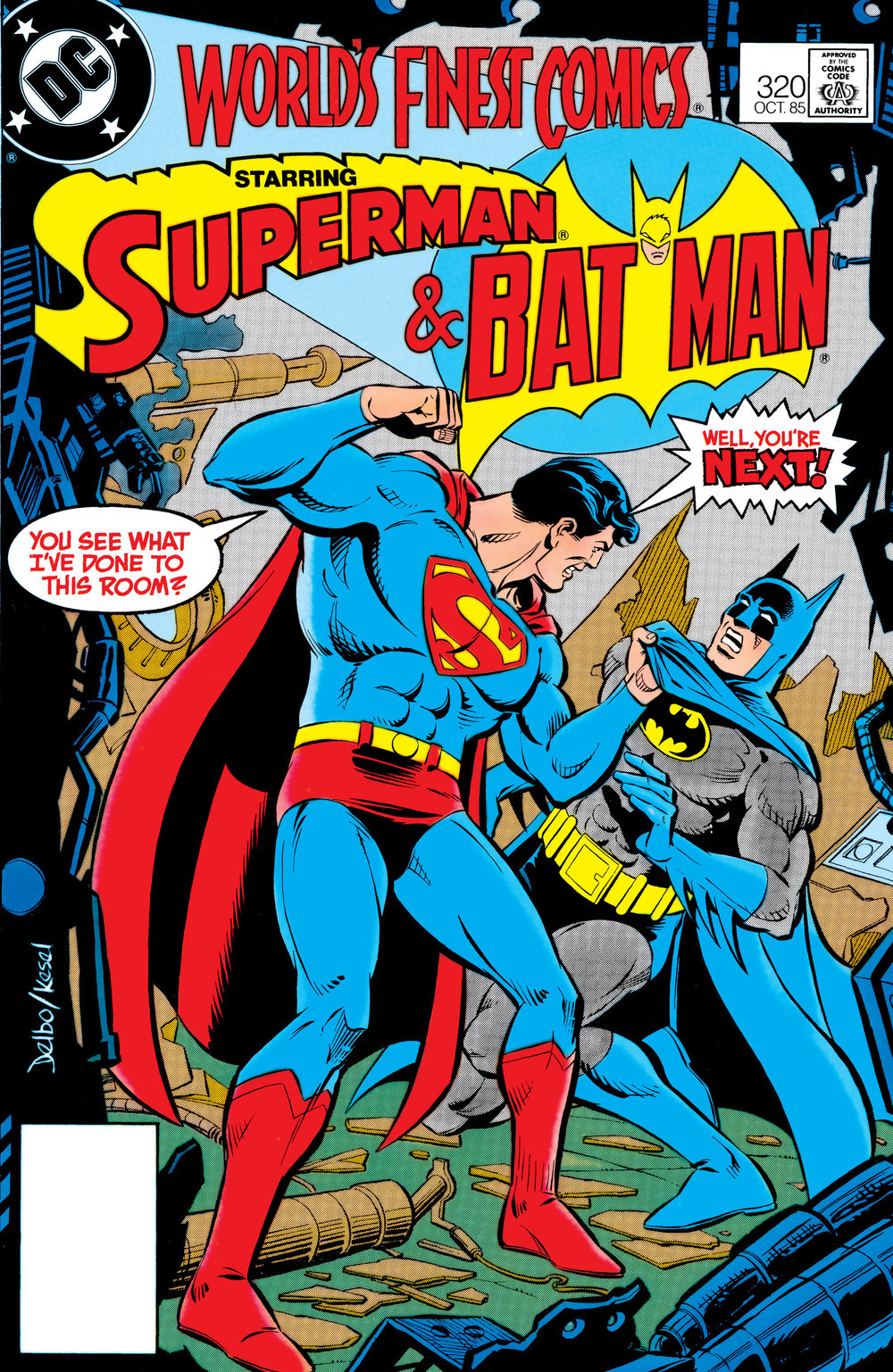 World's Finest Comics (1941) #320, cover penciled by Jose Delbo & inked by Karl Kessel.