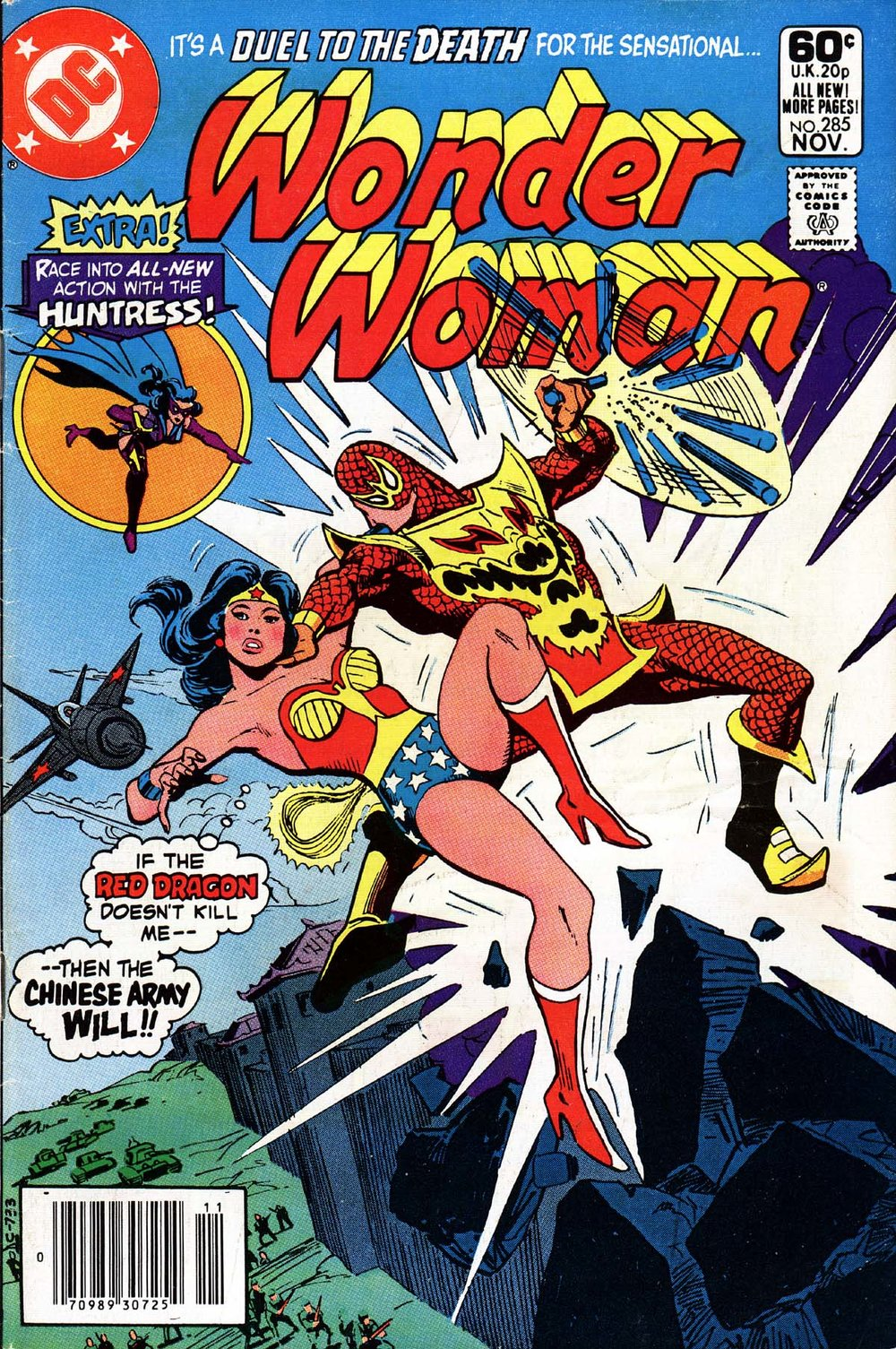 Wonder Woman (1942) #285, cover by Jose Delbo.