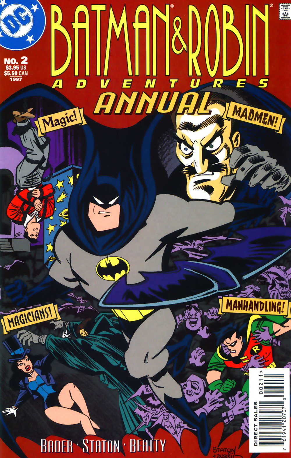 Batman & Robin Adventures Annual (1996) #2, cover penciled by Joe Staton & inked by Terry Austin.