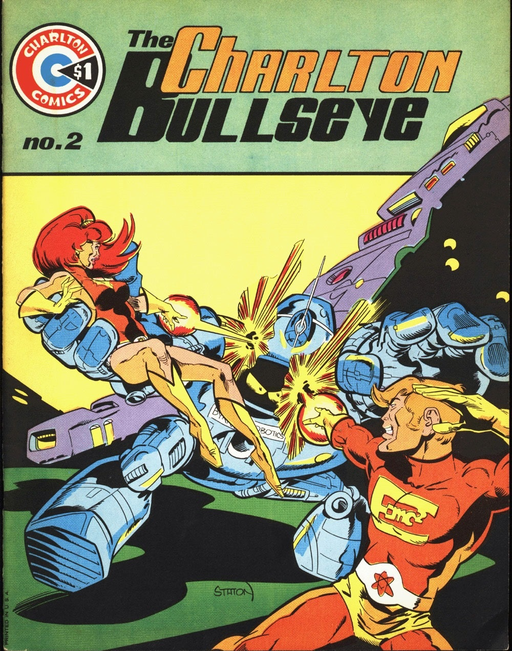 Charlton Bullseye (1975) #2, cover by Joe Staton.