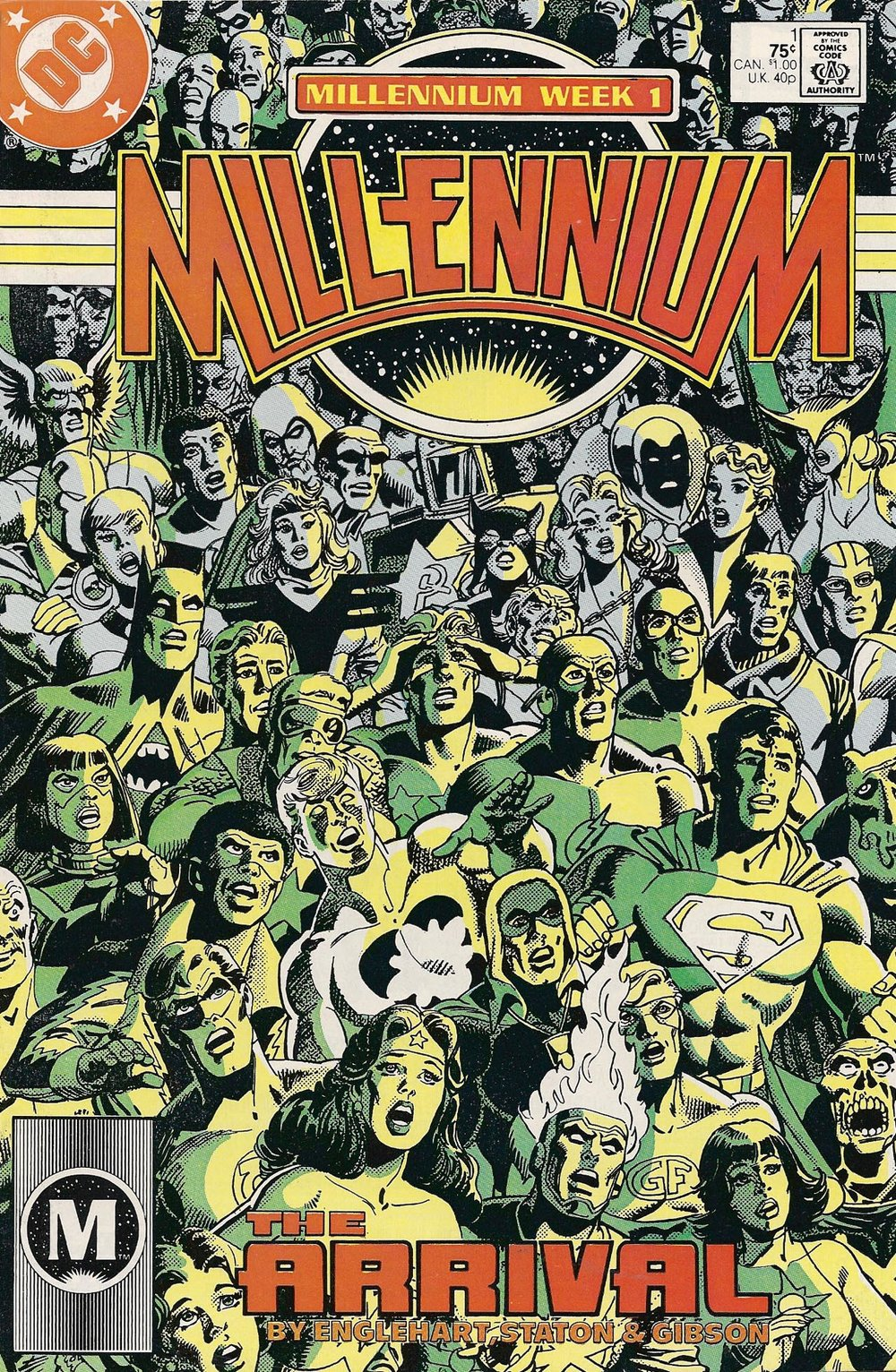 Millennium (1988) #1 cover penciled by Joe Staton & inked by Bruce Patterson.