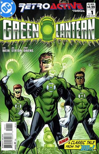 DC Retroactive: Green Lantern (2011) #1 cover by Joe Staton.