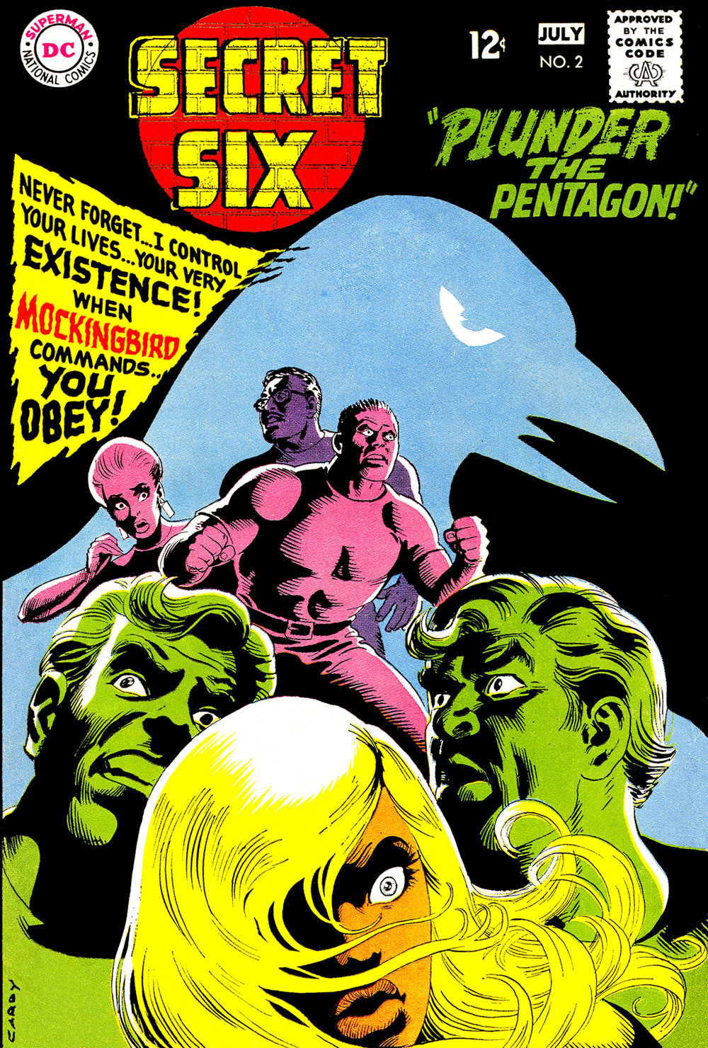 Secret Six (1968) #2, cover by Nick Cardy.