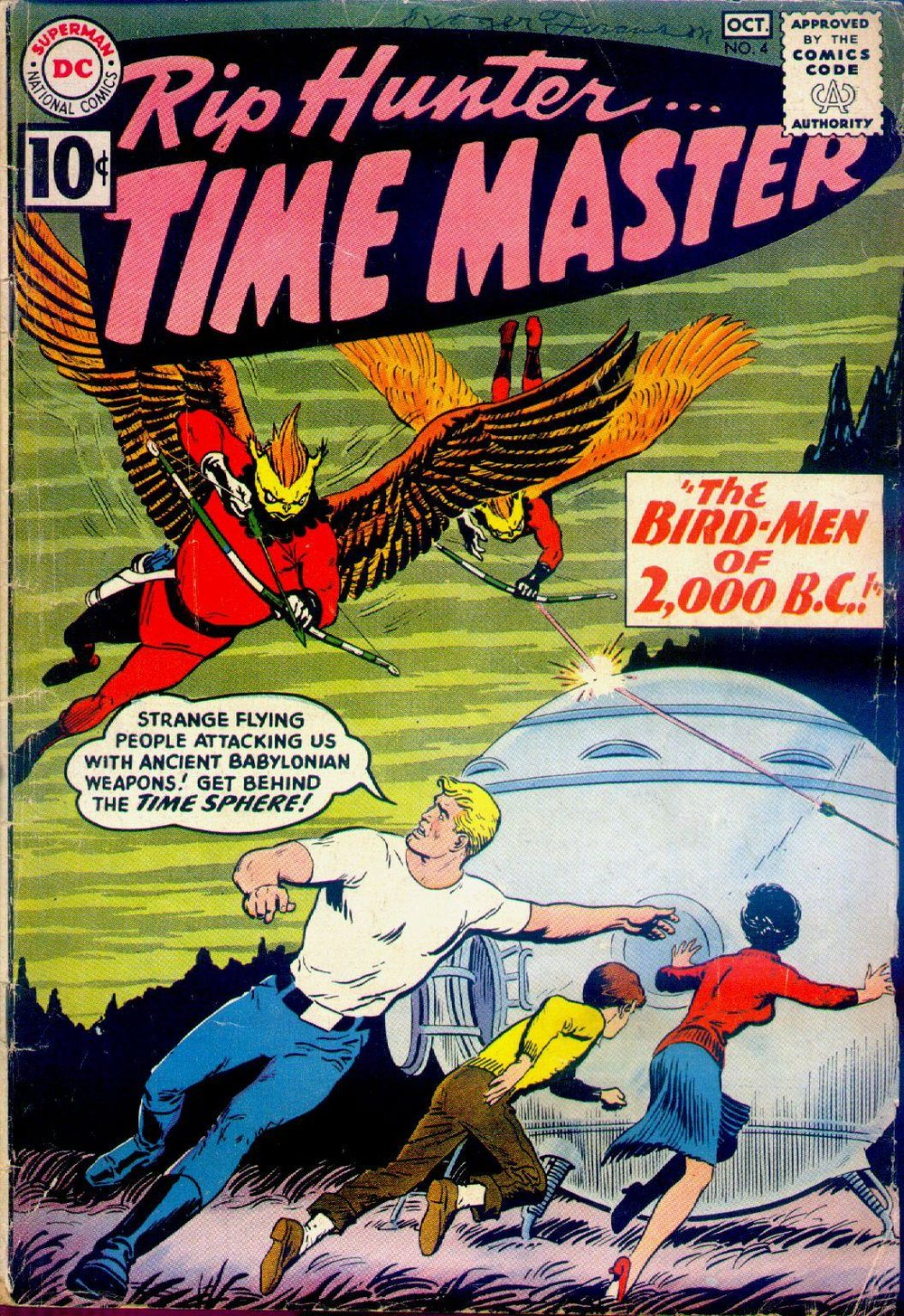 Rip Hunter... Time Master (1961) #4, cover by Nick Cardy.