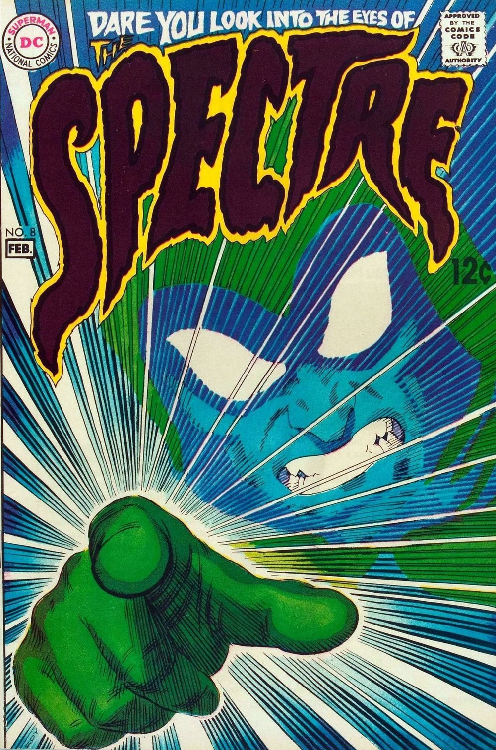 The Spectre (1967) #8, cover by Nick Cardy.