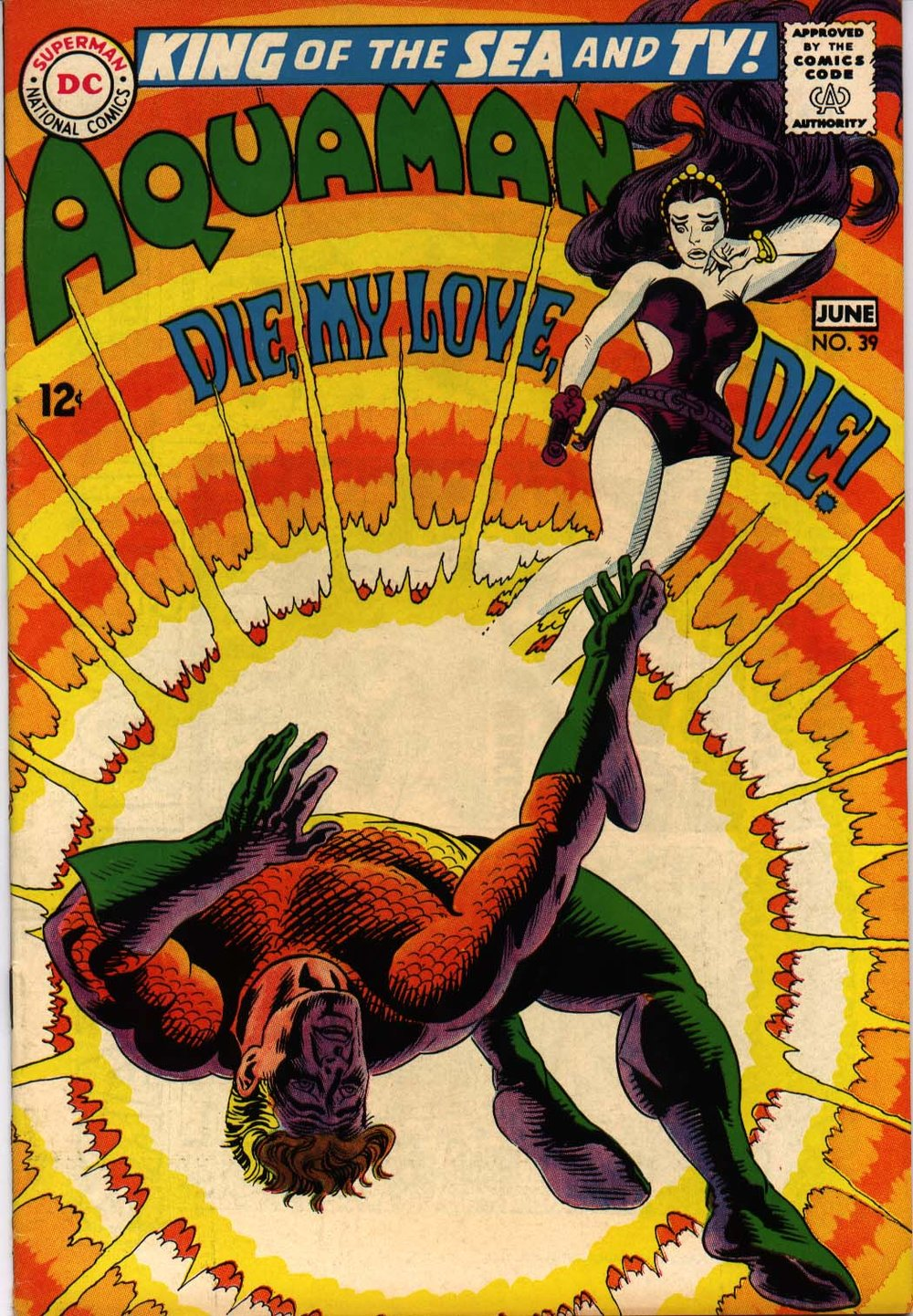 Aquaman (1962) #39, cover by Nick Cardy.