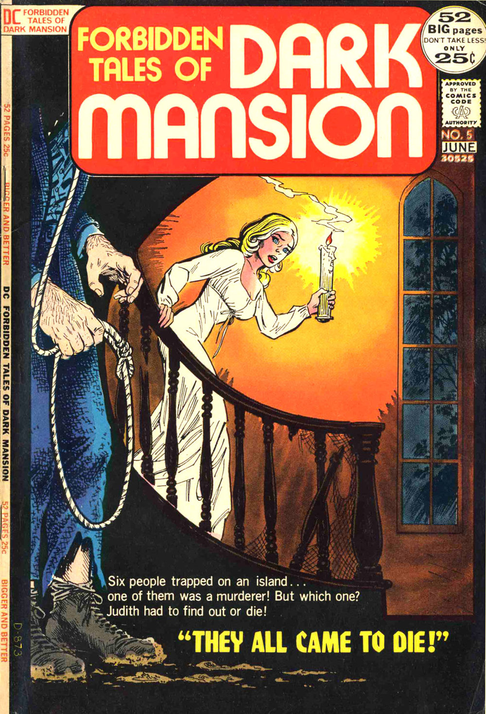 Forbidden Tales of Dark Mansion (1972) #5, cover by Nick Cardy.