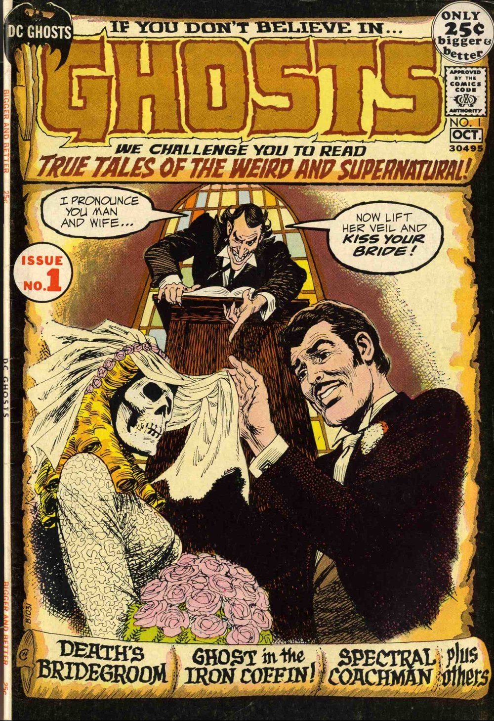 Ghosts (1971) #1, cover by Nick Cardy.