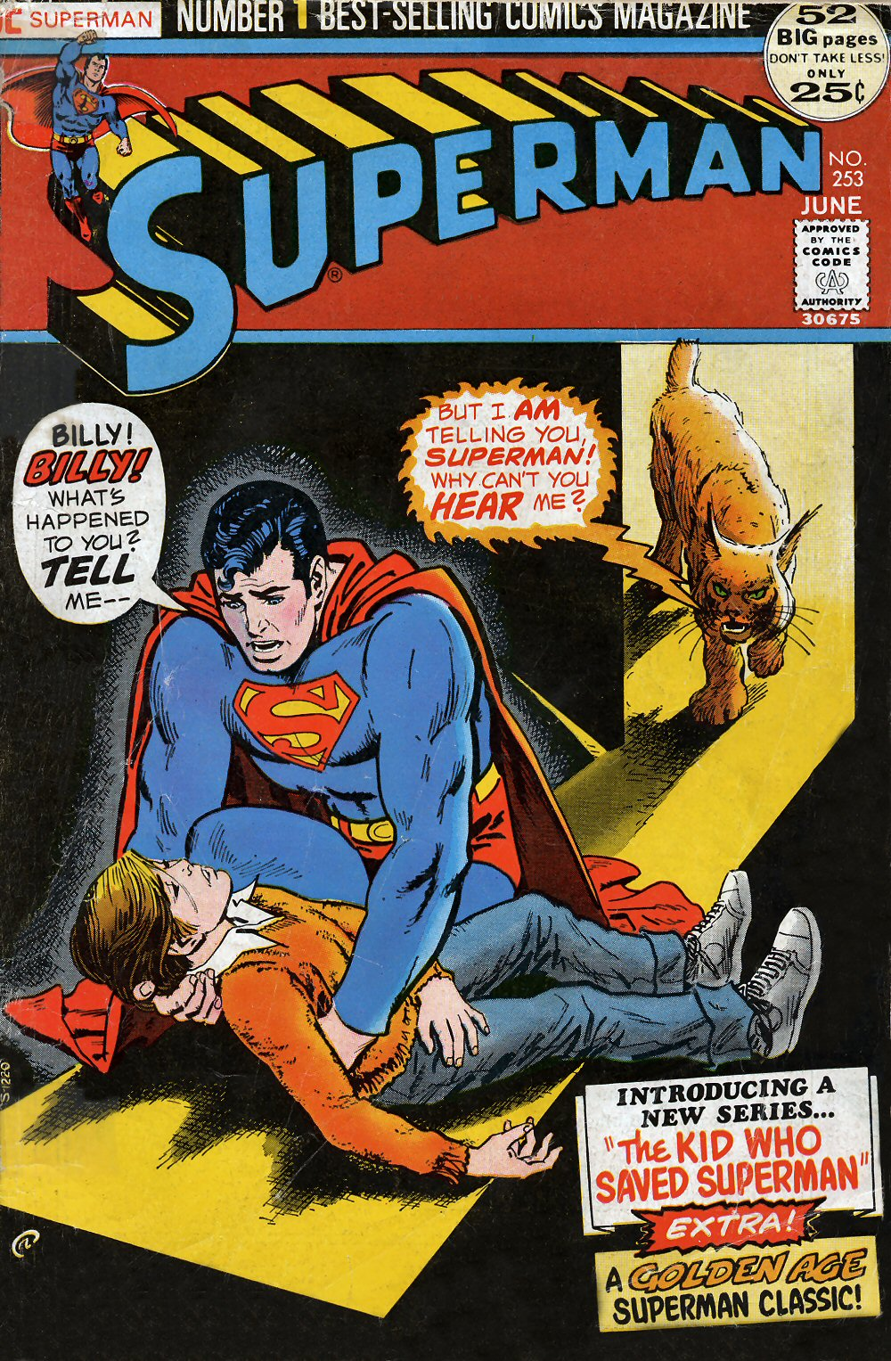 Superman (1939) #253, cover by Nick Cardy.