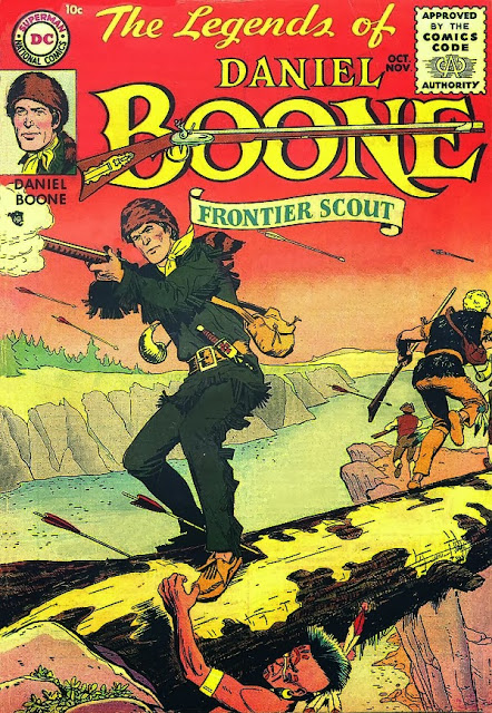 Legends of Daniel Boone (1955) #1, cover by Nick Cardy.