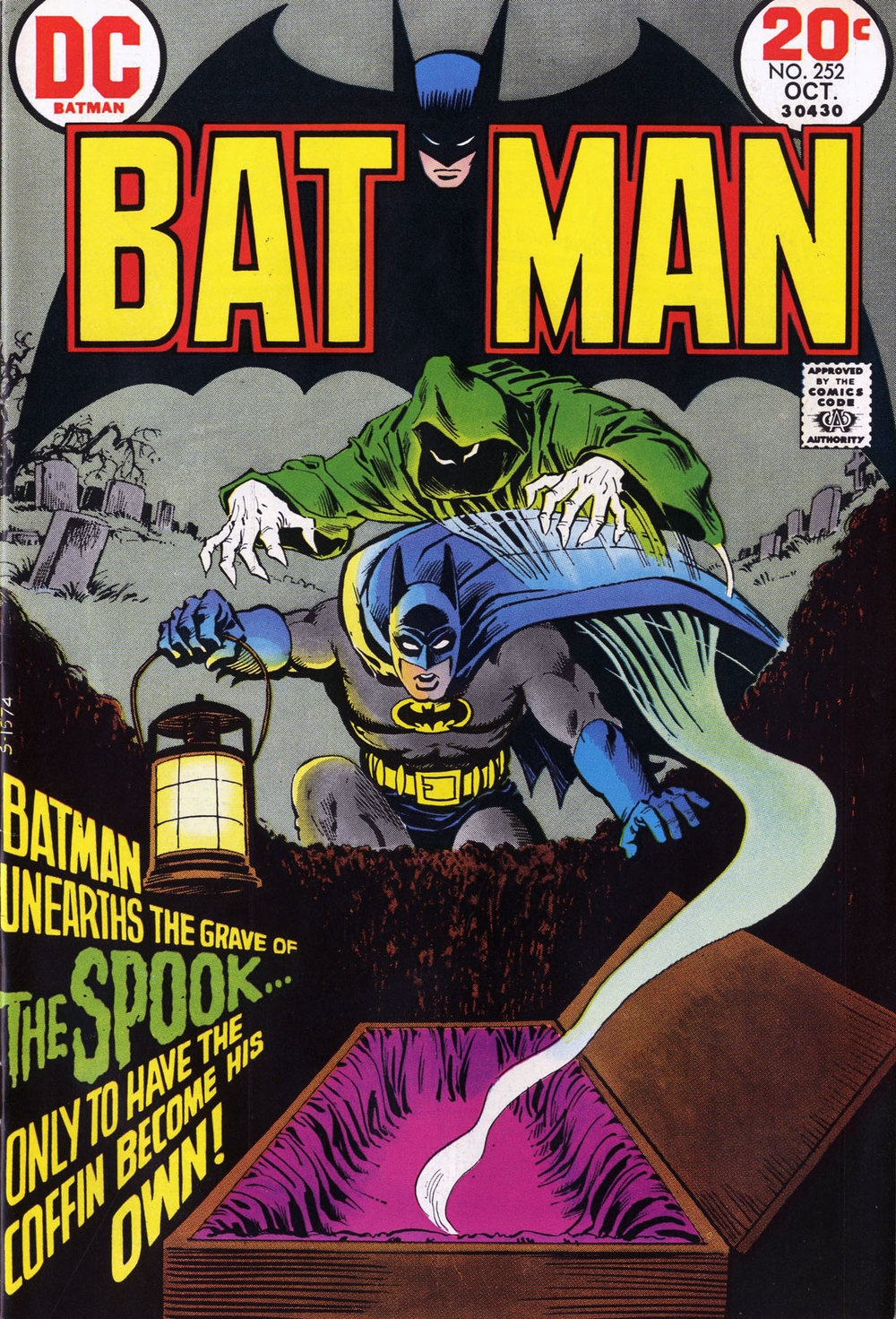 Batman (1940) #208, cover by Nick Cardy.